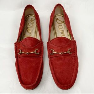 Sam Edelman Talia Suede Horsebit Loafer, Tango Red